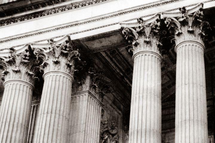 Corinthian Columns B/W photo - Stonebrook Gallery