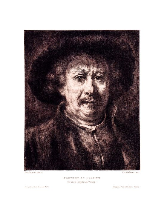 Print of Portrait of Rembrandt - Stonebrook Gallery