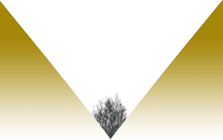 Yellow gradient Triangle with pencil - Stonebrook Gallery
