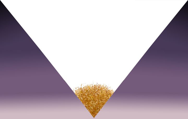 Purple gradient triangle with gold - Stonebrook Gallery