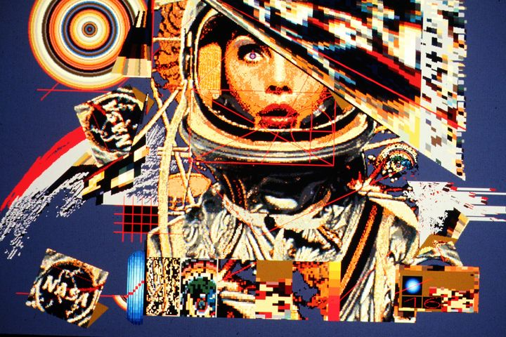 Woman astronaut by Larry Simpson - Stonebrook Gallery