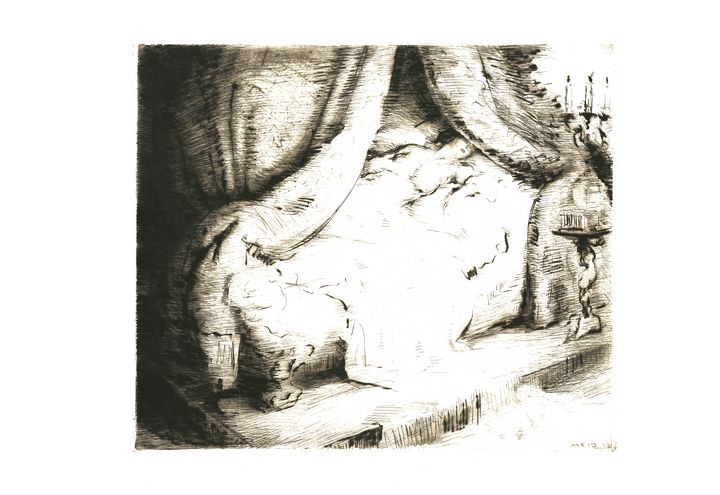 Meid Woman in bed wall decoration - Stonebrook Gallery