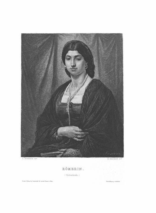 Römerin Antique Etching Print 1883 - Stonebrook Gallery