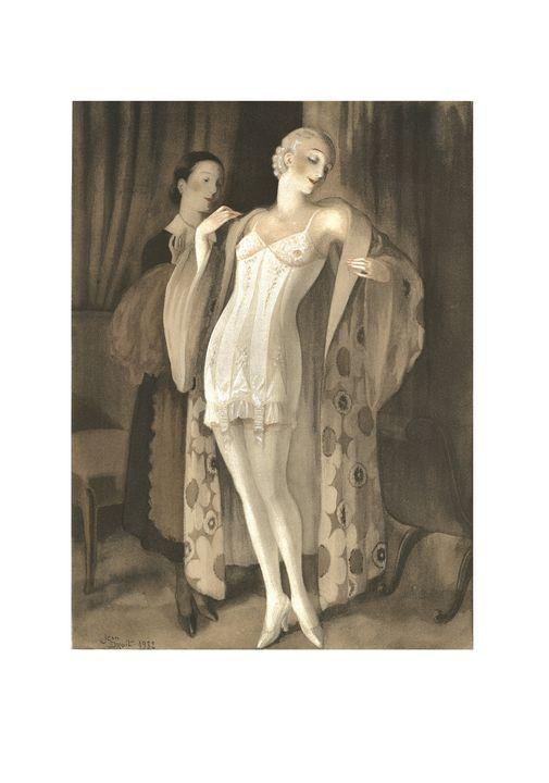 Jean Droit lithograph Lingerie 1932 - Stonebrook Gallery