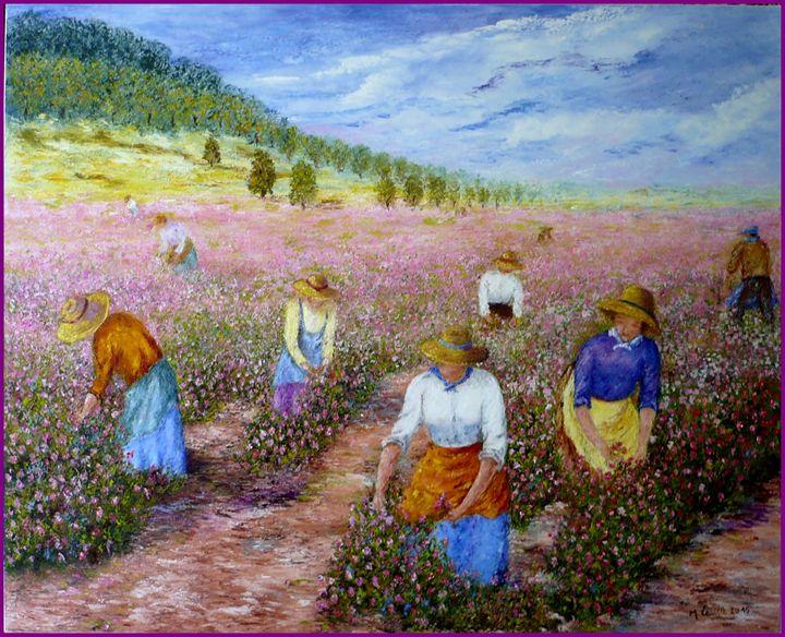 la cueillette des roses - monique laville