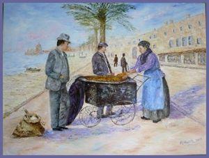 La marchande de socca à Nice en 1900