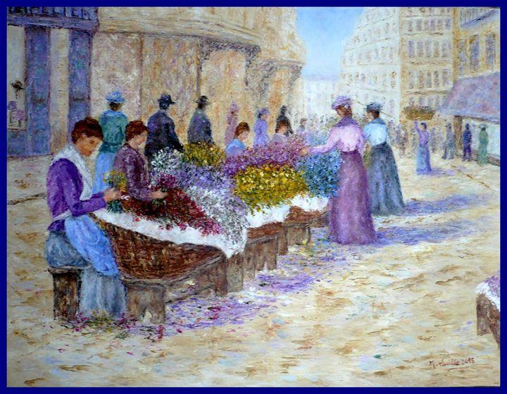 marche aux fleurs a nice en 1900 - monique laville