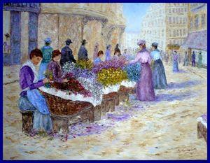marche aux fleurs a nice en 1900