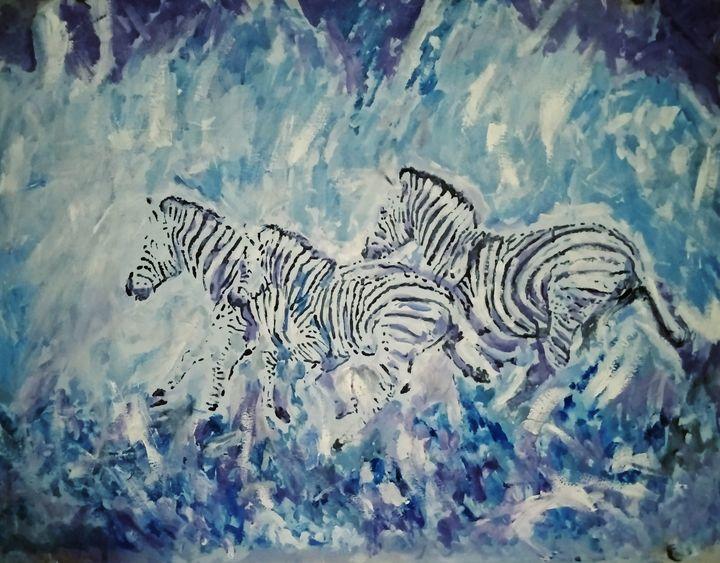 Une autre peinture de zebres - Yann Aubin