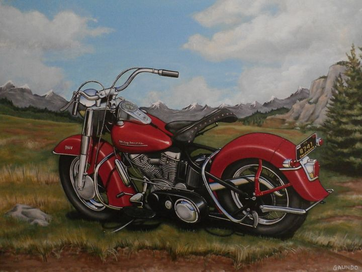 Panhead in colorado - John Galindo