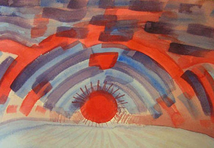 Sunset on the Horizon - Art by Natalee Parochka