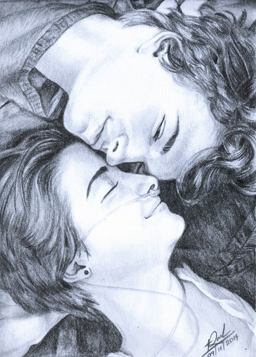 Shailene Woodley & Ansel Elgort - Pencil Drawings