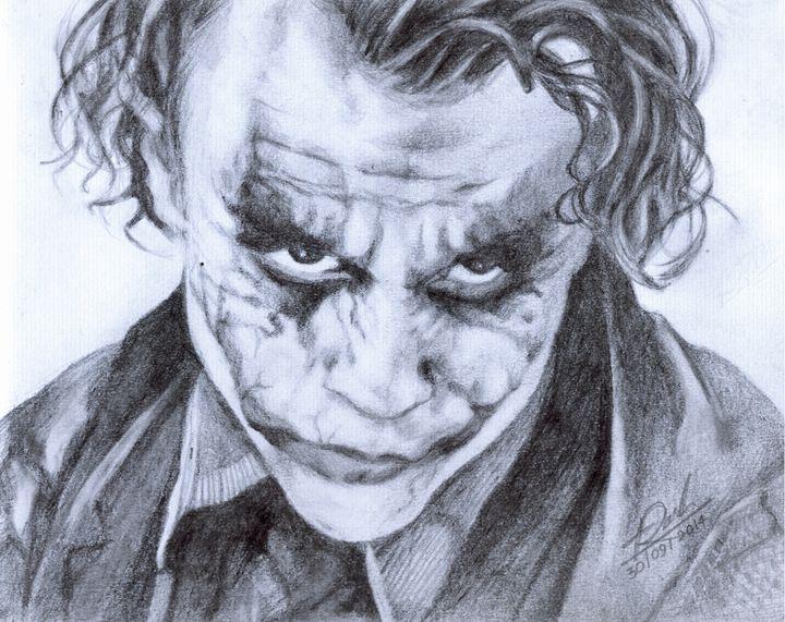 Heath Ledger as Joker - Pencil Drawings