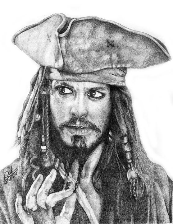 Johnny Depp As Jack Sparrow - Pencil Drawings