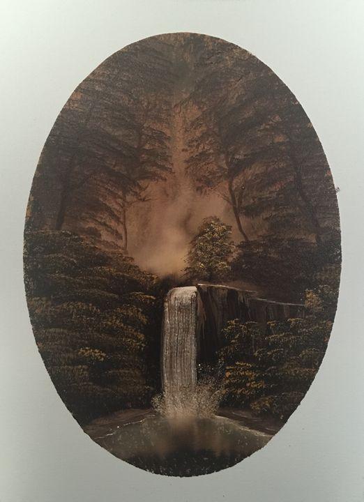 Hidden Fall - Everett Boyer- Bob Ross Style Paintings