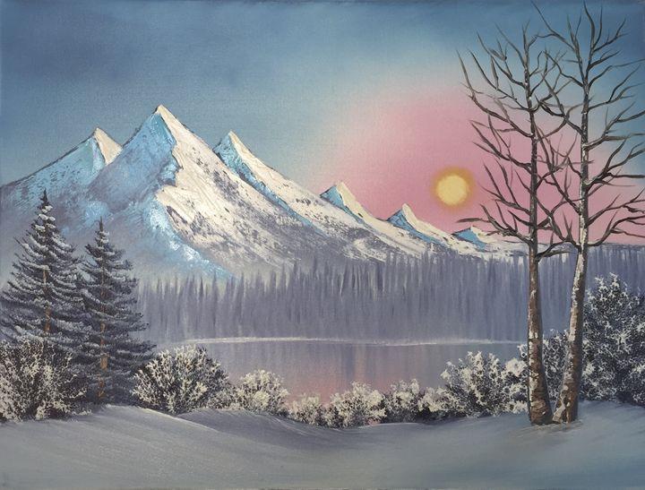 Morning Mist - Everett Boyer- Bob Ross Style Paintings