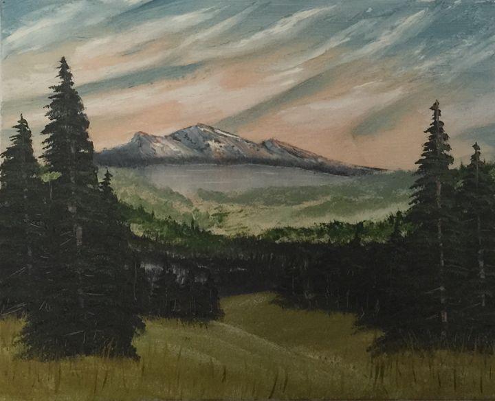 Mountain Valley - Everett Boyer- Bob Ross Style Paintings