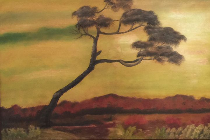 Monet reproduction:wind beaten tree - Everett Boyer- Bob Ross Style Paintings