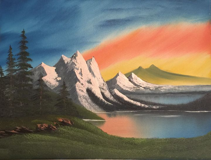 Sunset Serenity - Everett Boyer- Bob Ross Style Paintings