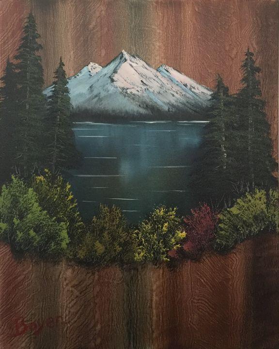 Mountain Retreat - Everett Boyer- Bob Ross Style Paintings