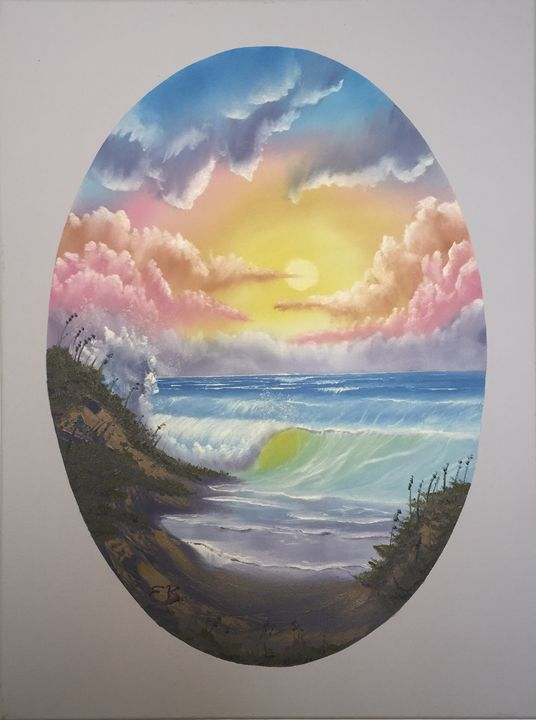 Brilliant Waves - Everett Boyer- Bob Ross Style Paintings