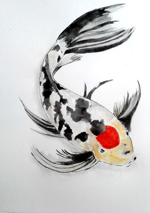 Watercolor Koi Fish - Tiima Studio