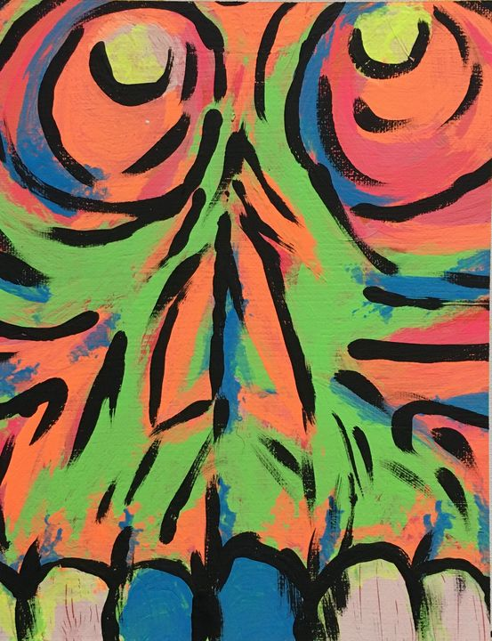 Neon skull - Mike's Paintings