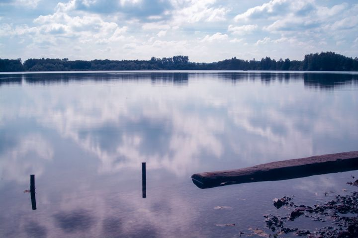 Reflection of clouds on the lake - My Pictures