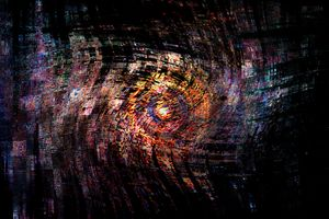 Concept abstract : The digital eye