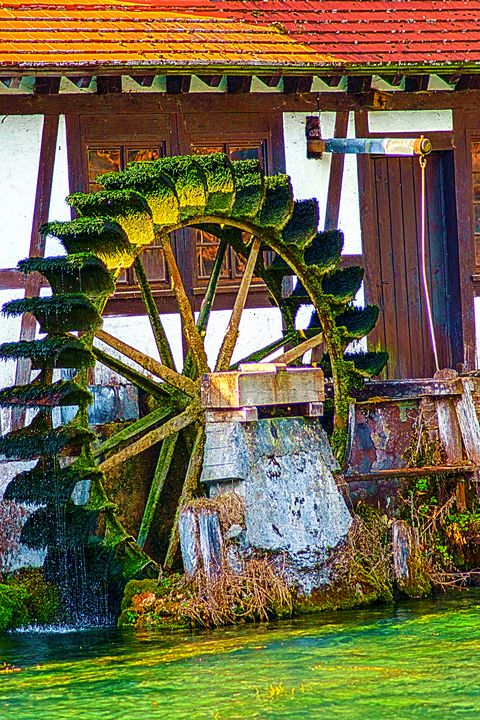 D - Blaubeueren : The water wheel - My Pictures