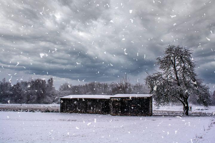 Swabian snowy scenery - by Photoart-Naegele