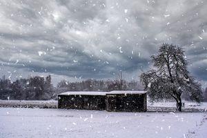 Swabian snowy scenery