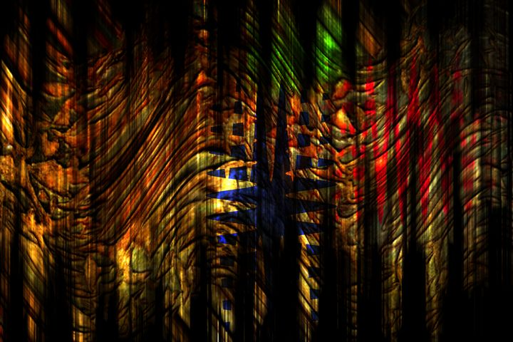 Abstract : The way to the entrance - by Photoart-Naegele