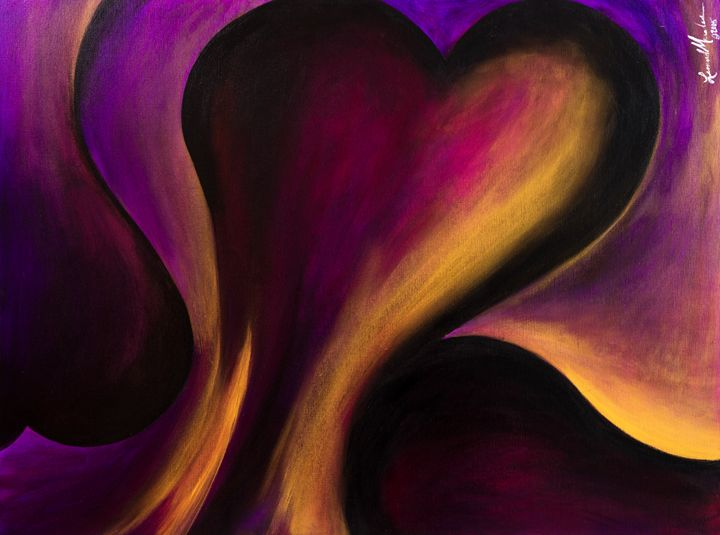 Heart of Gold - Abstract Fine Art & Photography by Len Morales Jr.