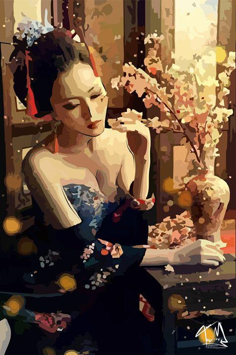 """Gueixa """"Hageshiku Lady"""" - Thiago Garou Mitsu - Art"""