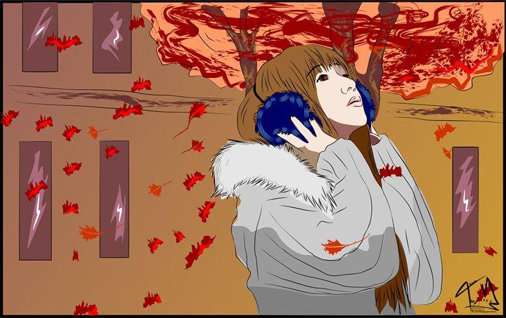 Leaves in Girl - Thiago Garou Mitsu - Art
