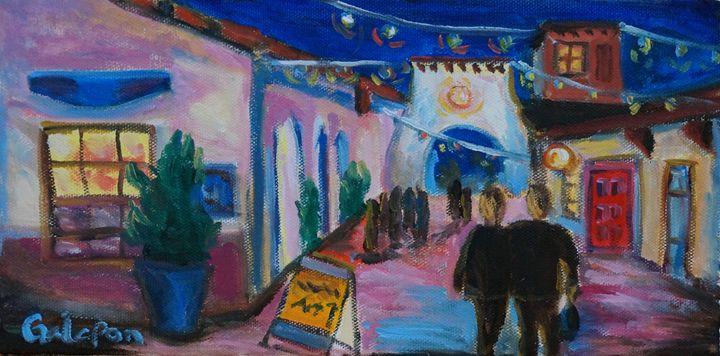 Spanish Village at Night - Dixie Galapon Art
