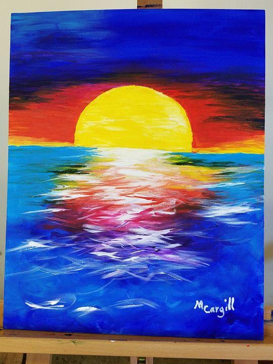 Ocean Sunset - Mary Cargill