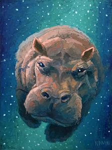 space flying hippo