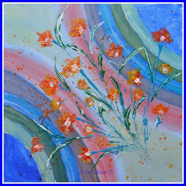 Floral Abstract 1 - Sonali's Artistic Hues