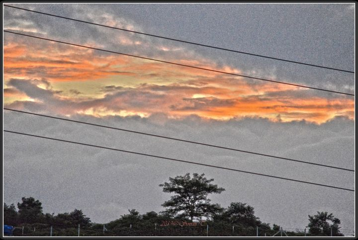 Sunset in August - Sonali's Artistic Hues
