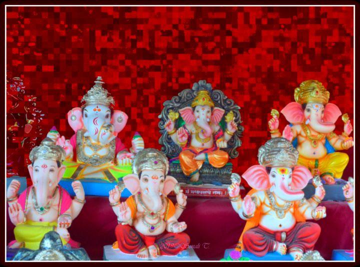 Lord Ganesha idols - Sonali's Artistic Hues