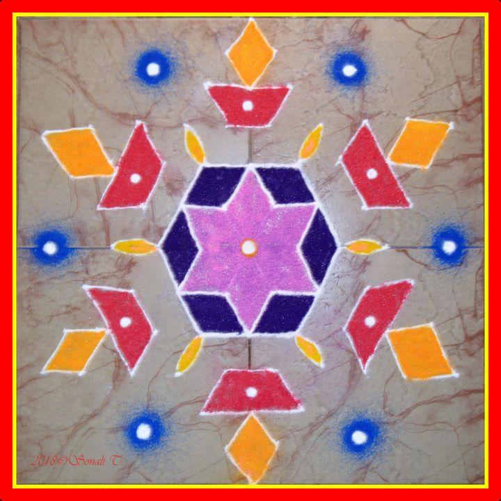 Festive Rangoli - Sonali's Artistic Hues