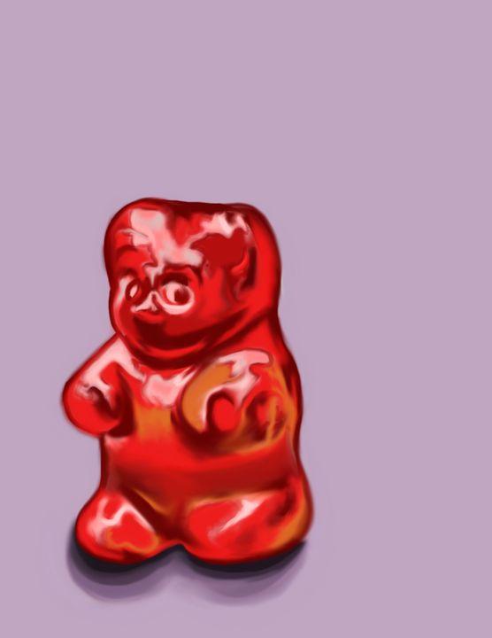 Red gummy bear - Marcela Montemayor