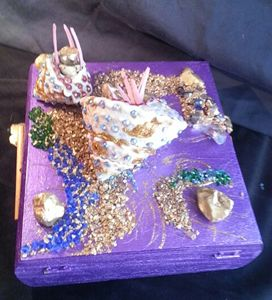 Designer  Jewelry  Box - Art by Mary S