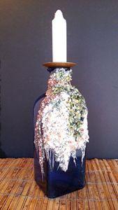 Indigo Blue Candle Holder  / Vase