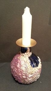 Indigo  Blue  vase / candle  holder
