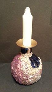 Indigo  Blue  vase / candle  holder - Art by Mary S
