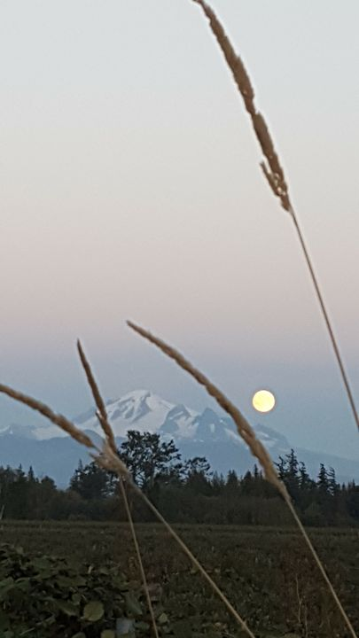 Full Moon Over Baker - Mountain View Art and Photography