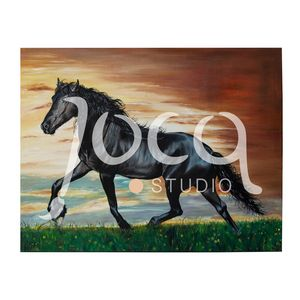 Evening dawn (Horse gallop) Painting